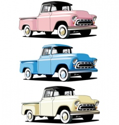 American pickup vector image vector image