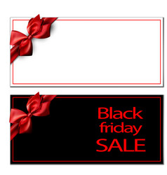 black friday sale card template vector image vector image