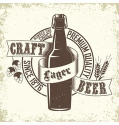 Brewery logo design vector