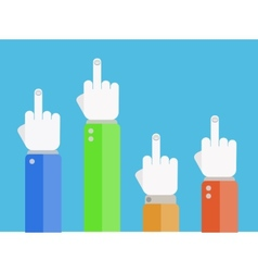 flat finger up icons set Eps 10 vector image