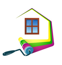 painting home design vector image vector image