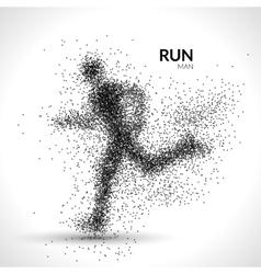 Running man dots Sport modern vector image