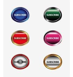 Subscribe button or icon vector image vector image