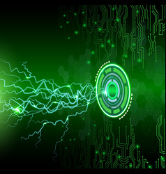 abstract technology on green background vector image