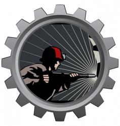 coal miner badge vector image