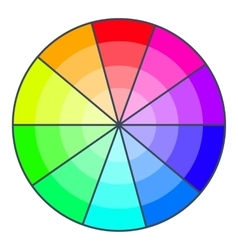 Color wheel with shades icon cartoon style vector