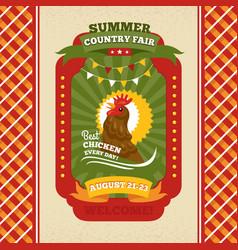 Country fair vintage invitation card vector