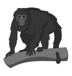 gibbon icon monochrome vector image vector image