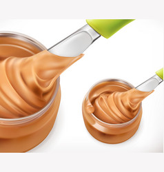 peanut butter 3d icon vector image
