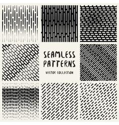 Set Geometric Seamless Pattern vector image