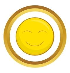 Smiley face icon vector image vector image