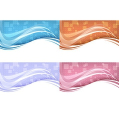 Technology background - abstract concept vector image vector image