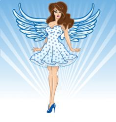 valentines female cupid vector image