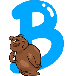 B for bear vector image vector image