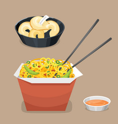 chinese tradition food dish delicious cuisine asia vector image vector image