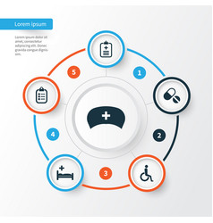 drug icons set collection of handicapped vector image vector image