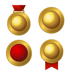 golden labels and medals set vector image