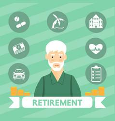 retirement vector image