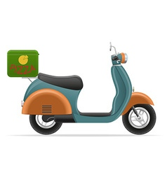 retro scooter 02 vector image vector image