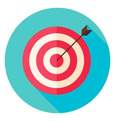 Target and Arrow Circle Icon vector image vector image