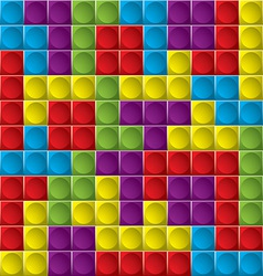 Tetris board background vector image vector image