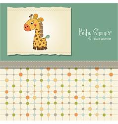 Baby shower card with giraffe vector