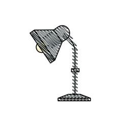 desk lamp equipment office vector image