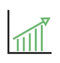 Escalating Bar Graph vector image vector image