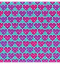 Polka dot and hearts vector