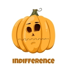 Pumpkin for Halloween Emotions Indifference vector image