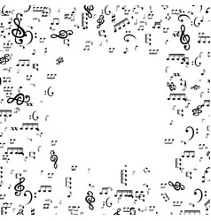 set of musical notes treble clef vector image