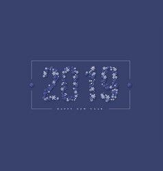 2019 snowflakes sign christmas and new year vector image