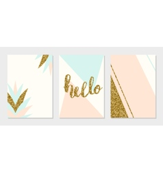 Abstract Design Cards Collection vector