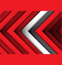 Abstract red white gray arrows pattern background vector