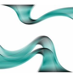 Abstract smooth lines blue background vector
