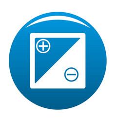 accumulator icon blue vector image