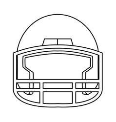 American footbal helmet equipment protection vector