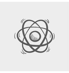 Atom sketch icon vector image