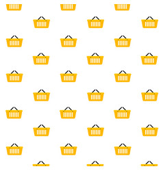 basket shop pattern seamless vector image
