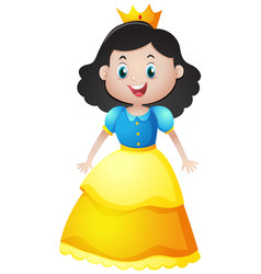Beautiful princess with golden crown vector
