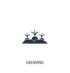 Beet or radish growing icon simple gardening vector