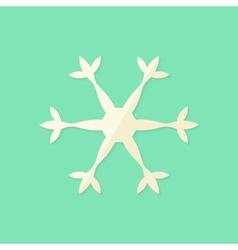 Big Christmas Snowflake Flat Icon vector image