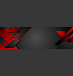 black and red geometric corporate banner design vector image
