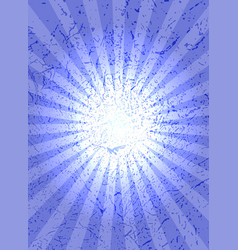 Blue background with center rays grunge texture vector