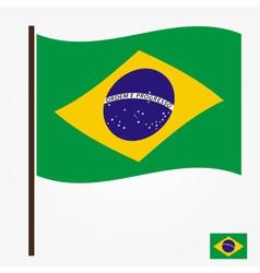 brazil flag national symbol color eps10 vector image