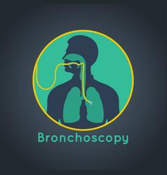 bronchoscopy logo icon vector image