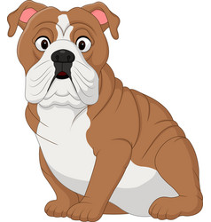 Cartoon bulldog sitting vector