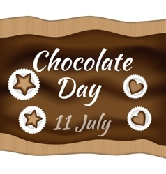 Chocolate day vector image