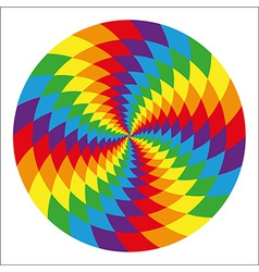 circle abstract psychedelic rainbow vector image