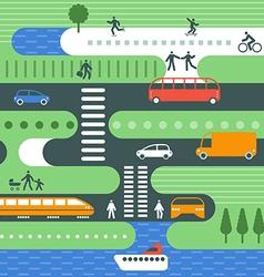 city traffic vector image